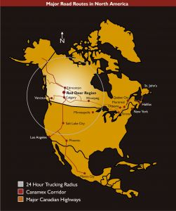 Major Road Routes in North America